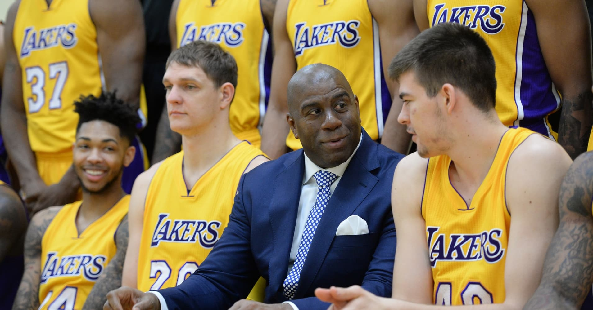 Magic Johnson and the Los Angeles Lakers