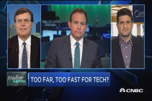 Trading Nation: Too far, too fast for tech?