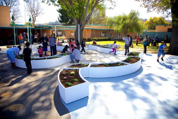 The Kitchen's non-profit arm Learning Gardens provides schools with gardens to help students learn about the importance of fresh foods.