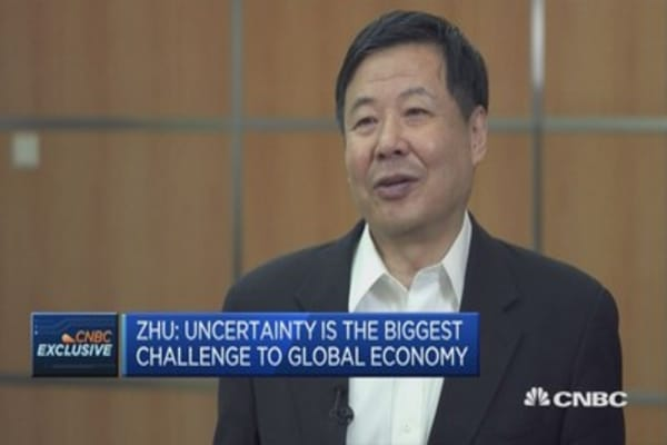 China Vice FinMin on challenges to the global economy
