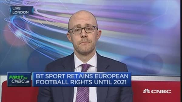 BT Sport retains European football rights until 2021
