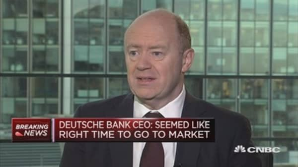 Pricing looks about right: Deutsche Bank CEO