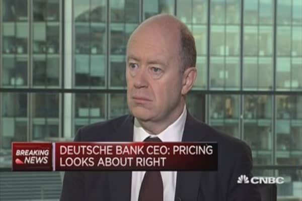 I'm not at all weary of Deutsche Bank, says CEO