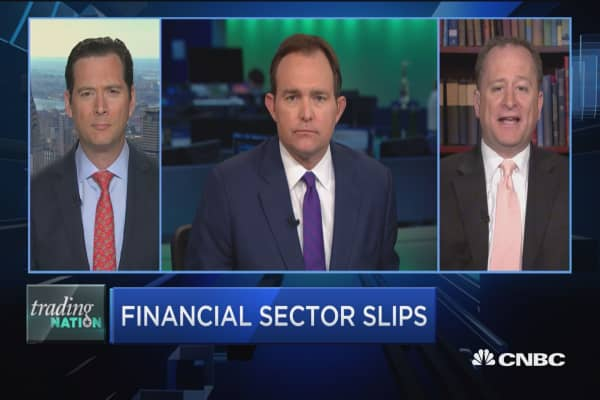 Trading Nation: Financial sector slips