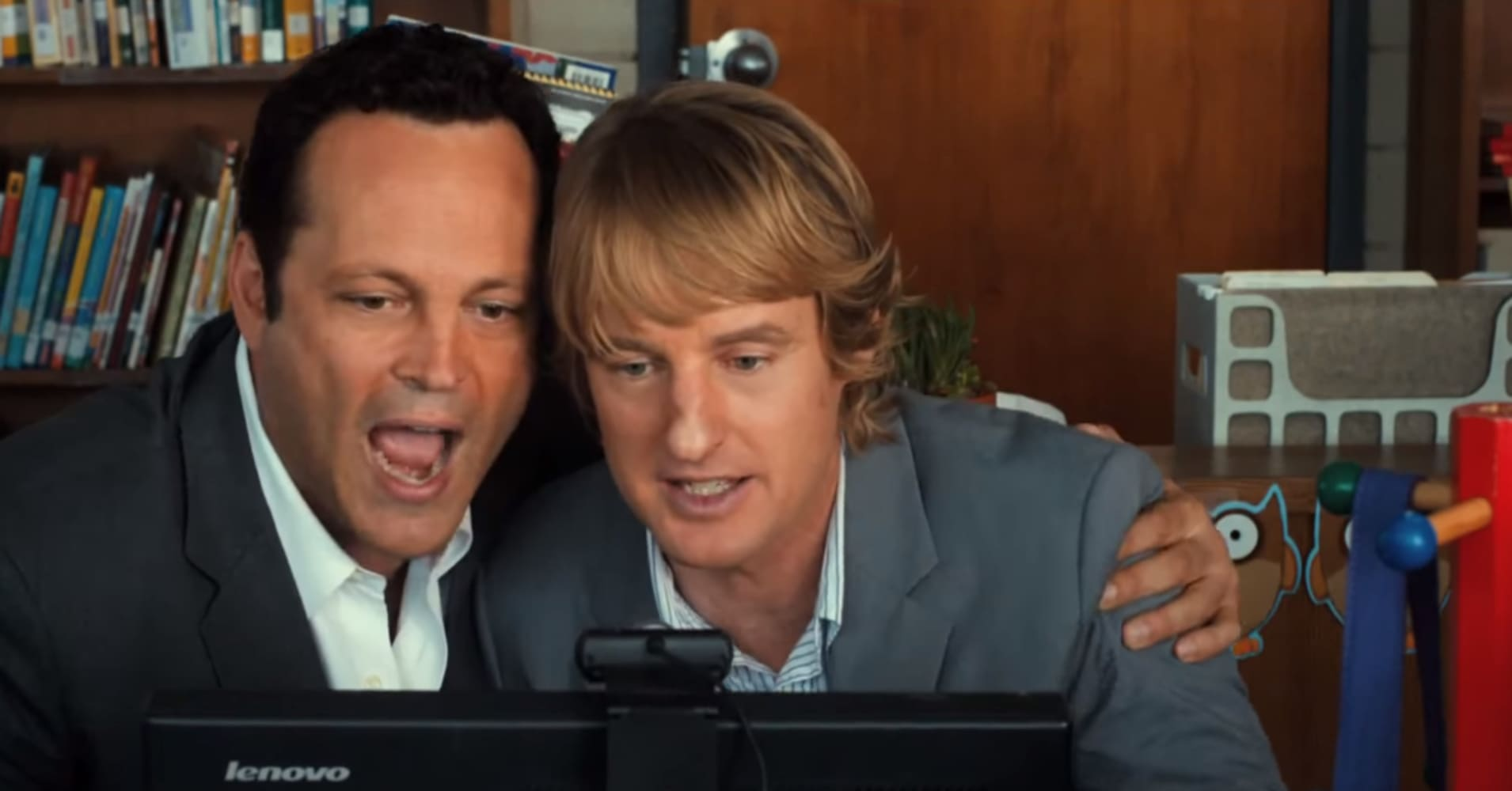 "Vince Vaughn and Owen Wilson's characters interview for a position at Google in ""The Internship"""