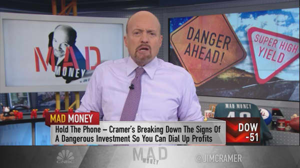 Cramer's No. 1 sign that a stock is too dangerous