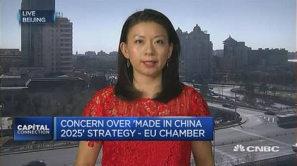 The EU is concerned over 'made in China 2025'