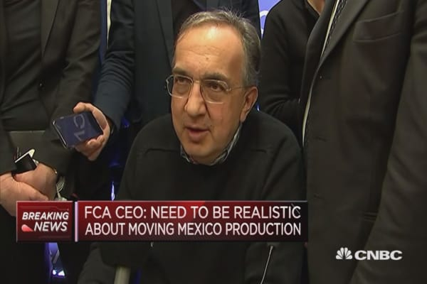 Need to see more detail on US border tax: Fiat Chrysler CEO