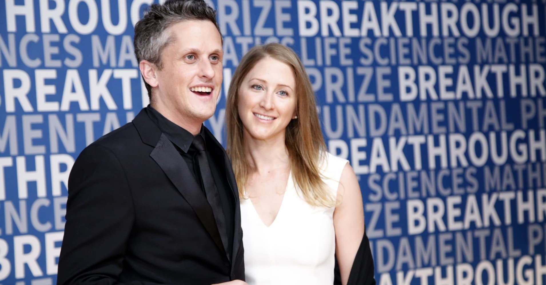CEO of Box Aaron Levie and CEO of Paradigm Joelle Emerson attend the 2017 Breakthrough Prize.