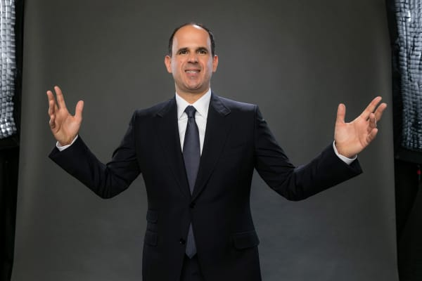 Marcus Lemonis poses for a portrait during the NBCUniversal Press Day at The Langham Huntington, Pasadena on January 14, 2016 in Pasadena, California.