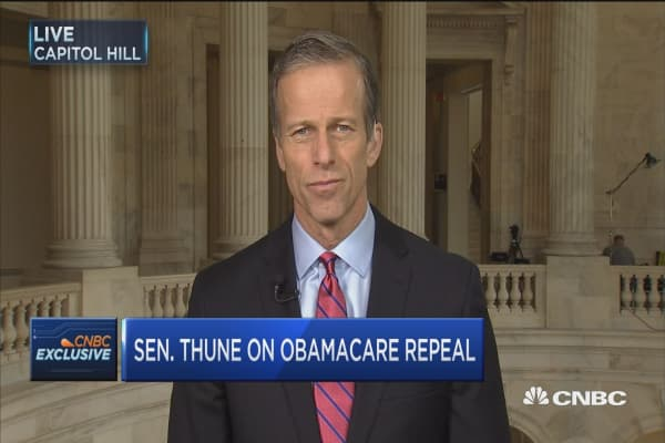 Sen. Thune: The basic components of health care bill are in place