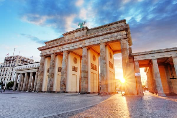 Berlin, Brandenburg gate, Germany.