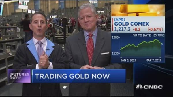 Gold falls to lowest level in nearly 5 weeks