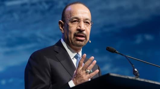 Khalid Bin Abdulaziz Al-Falih, Saudi Arabia's energy and industry minister.