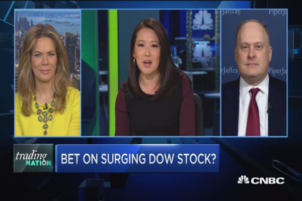 Trading Nation: Bet on surging Dow stock?