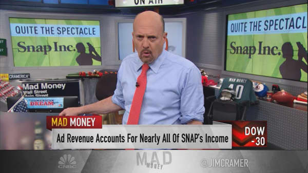 Cramer: 2 scenarios that turn Snap into a buy