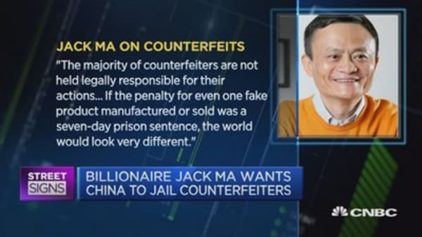 Jack Ma wants counterfeiters thrown in jail