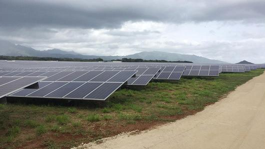 A Tesla solar farm in Kauai, Hawaii.
