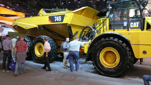 Caterpillar on display at the CONEXPO in Las Vegas.