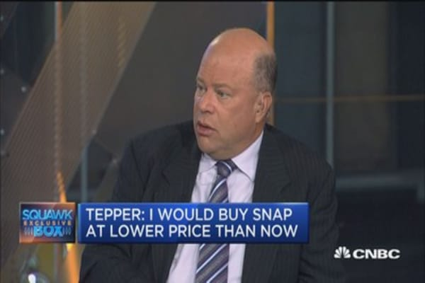 Snap interesting but not jumping through the hoops to buy it at $21.80: David Tepper