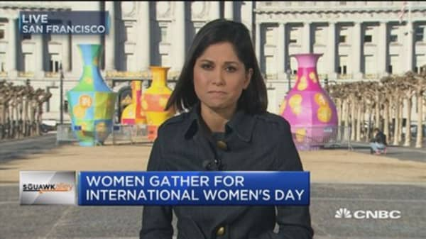 Women gather for International Women's Day