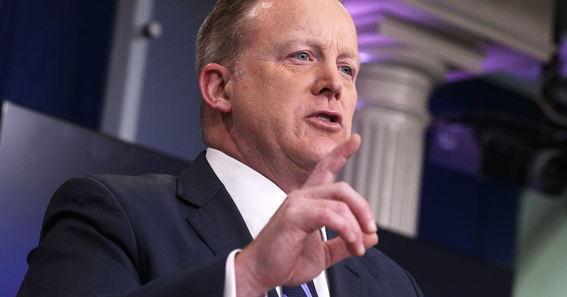 Sean Spicer thinks Nancy Pelosi's win is a win for Trump