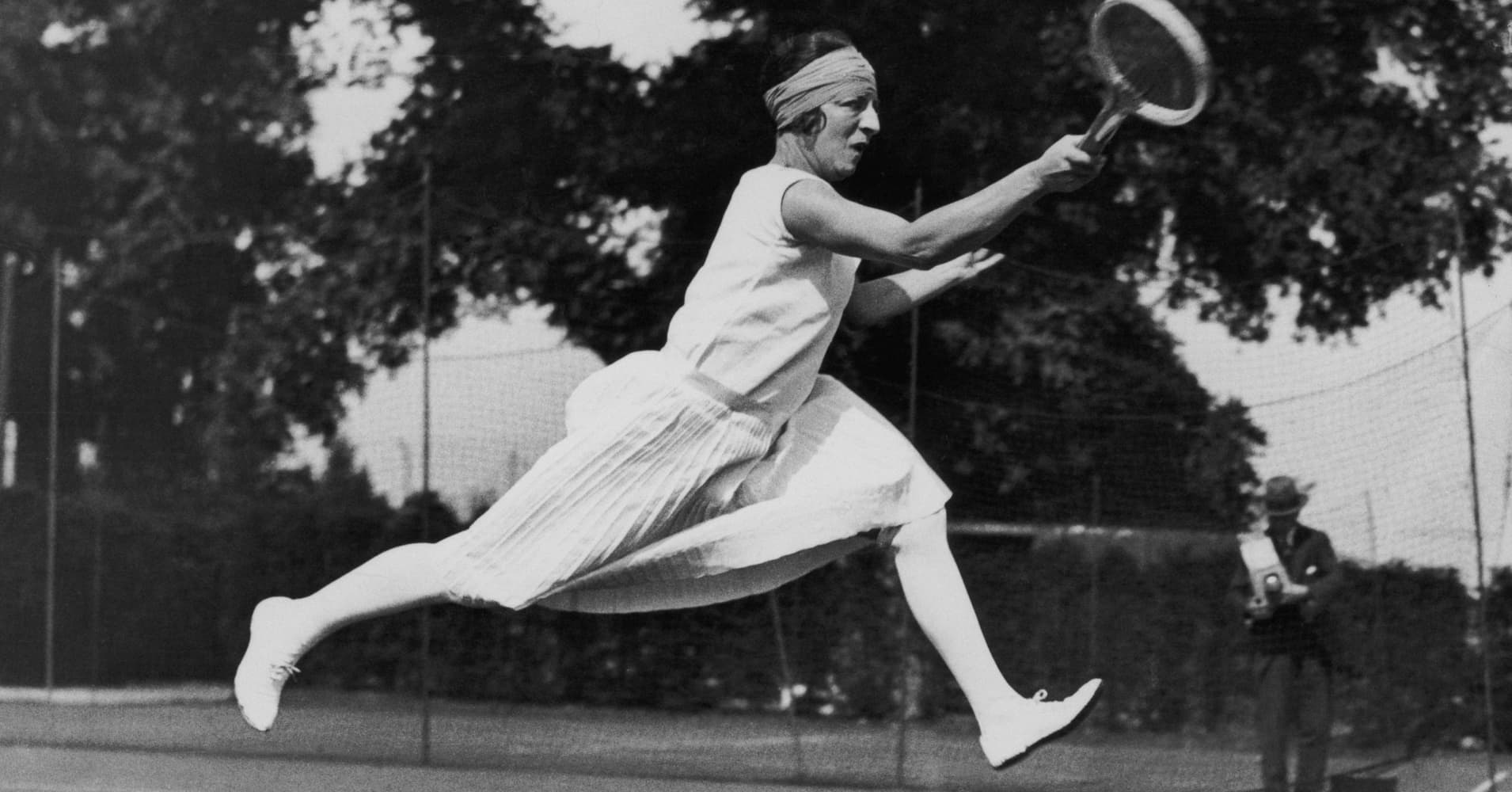 French tennis champion Suzanne Lenglen