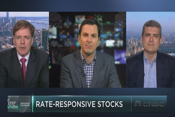 Four stocks vulnerable to rising rates
