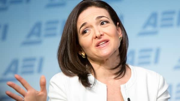 Facebook's Chief Operating Officer Sheryl Sandberg