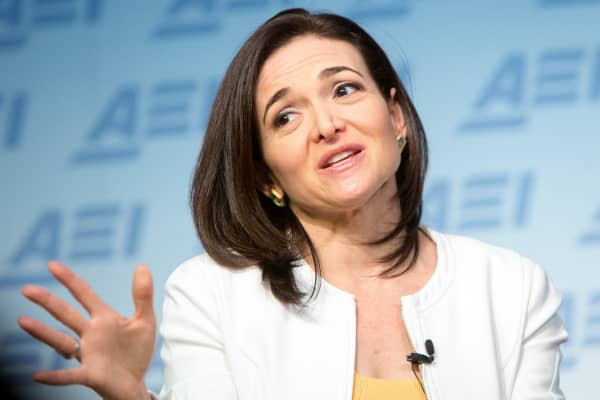 Facebook's Chief Operating Officer Sheryl Sandberg