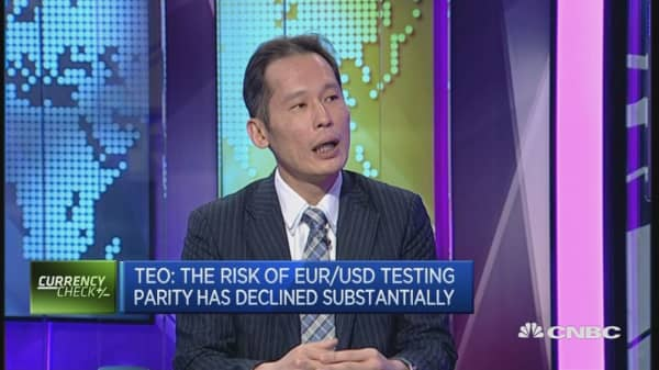EUR/USD parity risk has declined: Strategist