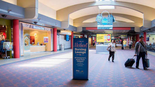 According to the ACI-NA survey, airports are adding more nursing rooms for mothers.