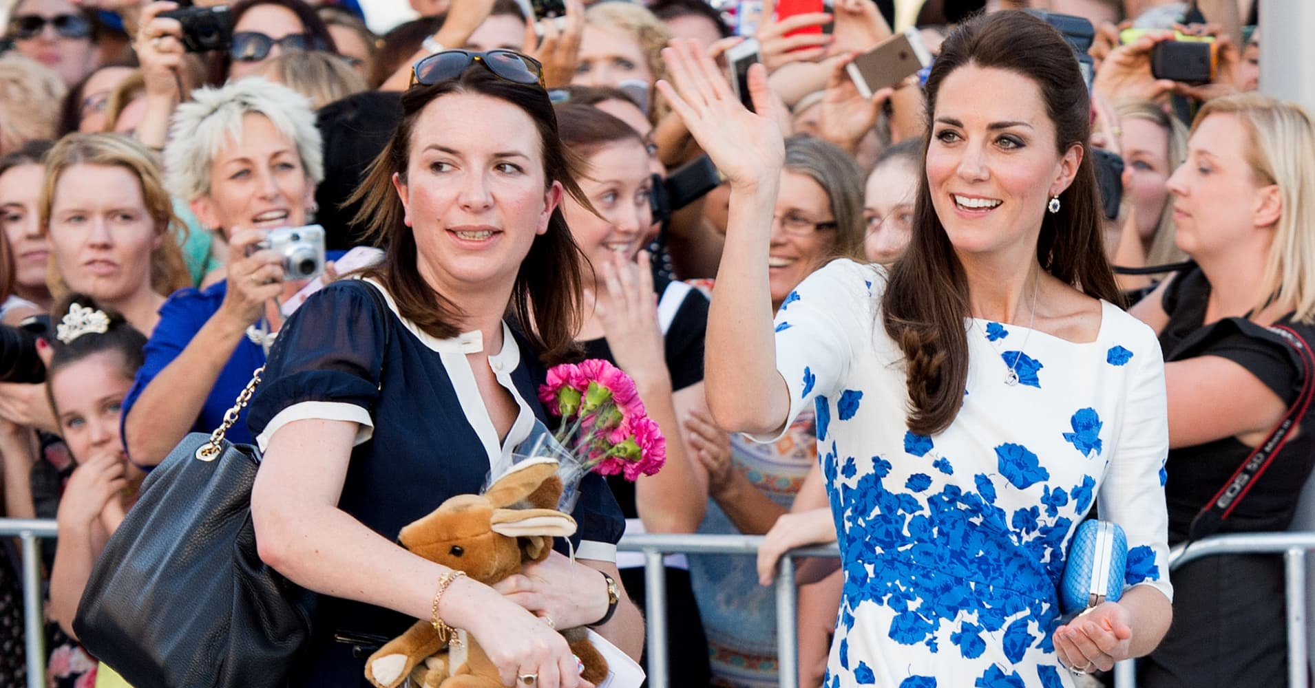 The Duchess of Cambridge with her personal assistant Rebecca Deacon
