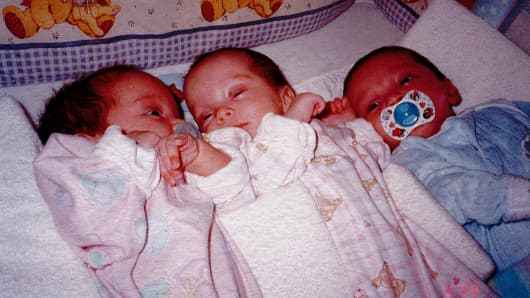 The Astorino triplets spent eight weeks in the neonatal intensive care unit.