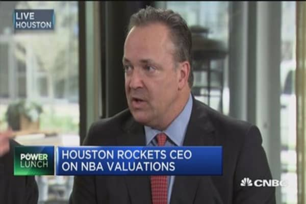 Houston Rockets CEO: Teams will become more and more valuable