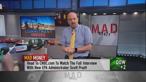 Cramer: The golden price for oil to bottom