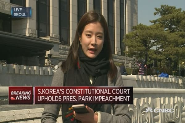 South Korea's President removed from office