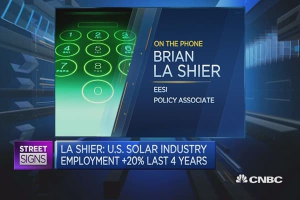 US solar job growth to continue: Expert