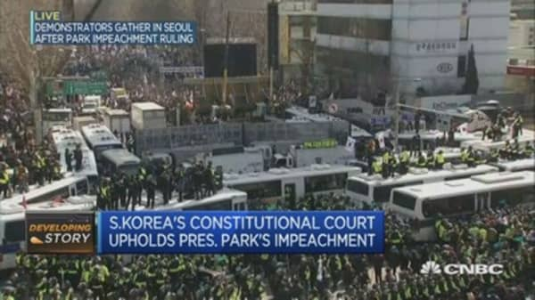 In South Korea, pro-Park supporters exasperated