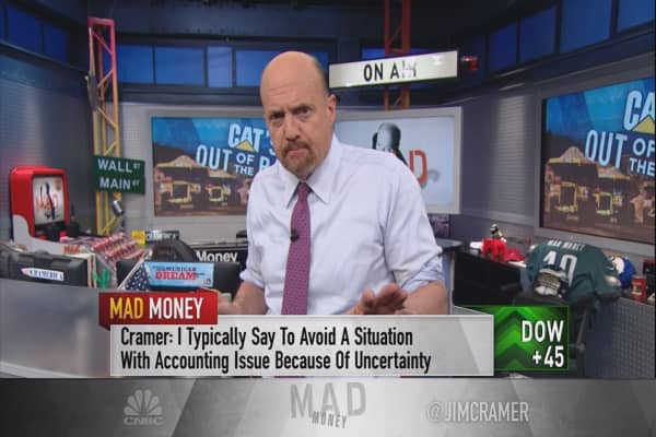 Cramer makes a rare exception for Caterpillar's accounting issues