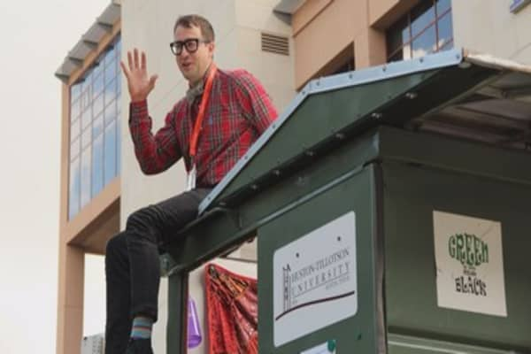 How living in a dumpster motivated this man to reinvent housing