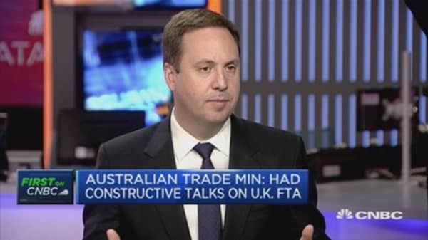 Once Brexit process is finalized, we'll start talks: Australia trade min