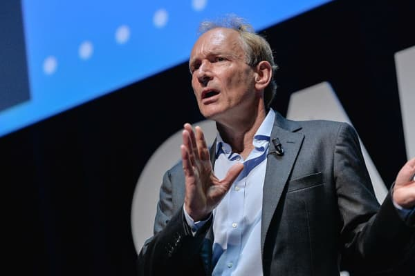 Tim Berners-Lee pictured at the Cannes Lions festival in 2015