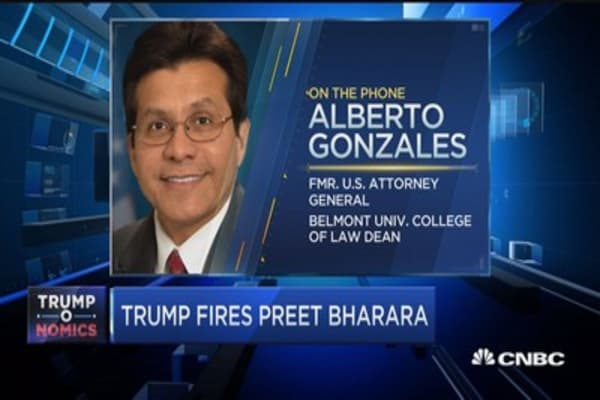 Alberto Gonzalez: If the president no longer has pleasure in your servive, you're expected to leave