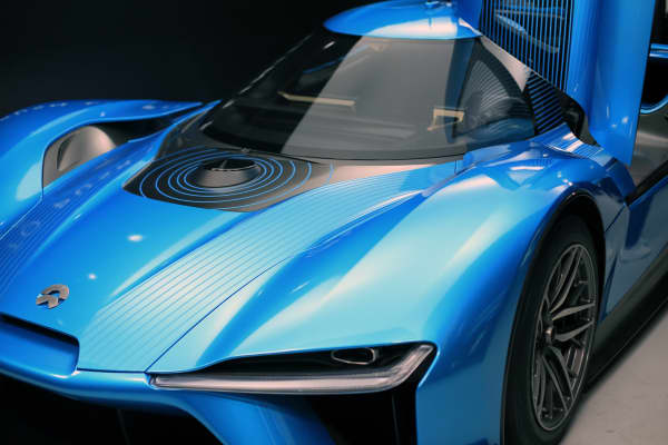 Nio 2: A close-up of the Nio EP9, the fastest self-driving car, at the SXSW Festival in Austin, Texas, on March 11, 2016.