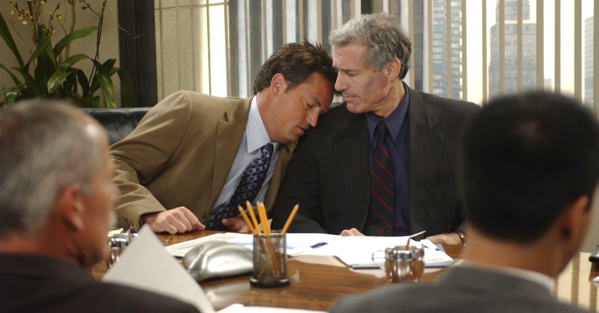 Matthew Perry as Chandler Bing, Michael Kurtz as Walter on 'Friends'