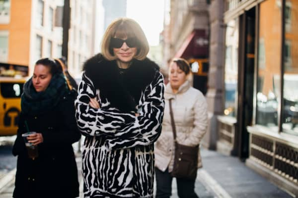 Vogue editor Anna Wintour in New York City in January 2017