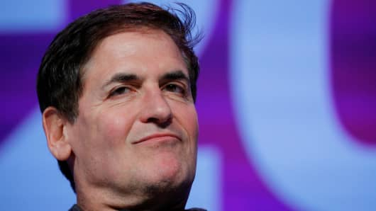 Businessman Mark Cuban listens as he is introduced at the South by Southwest Music Film Interactive Festival in Austin, Texas, March 12, 2017.