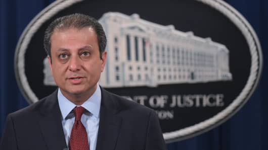 U.S. Attorney of the Southern District of New York Preet Bharara.