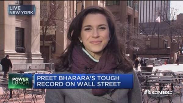 Preet Bharara's tough record on Wall Street